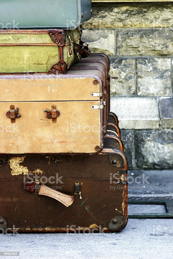 Old cases royalty-free stock photo