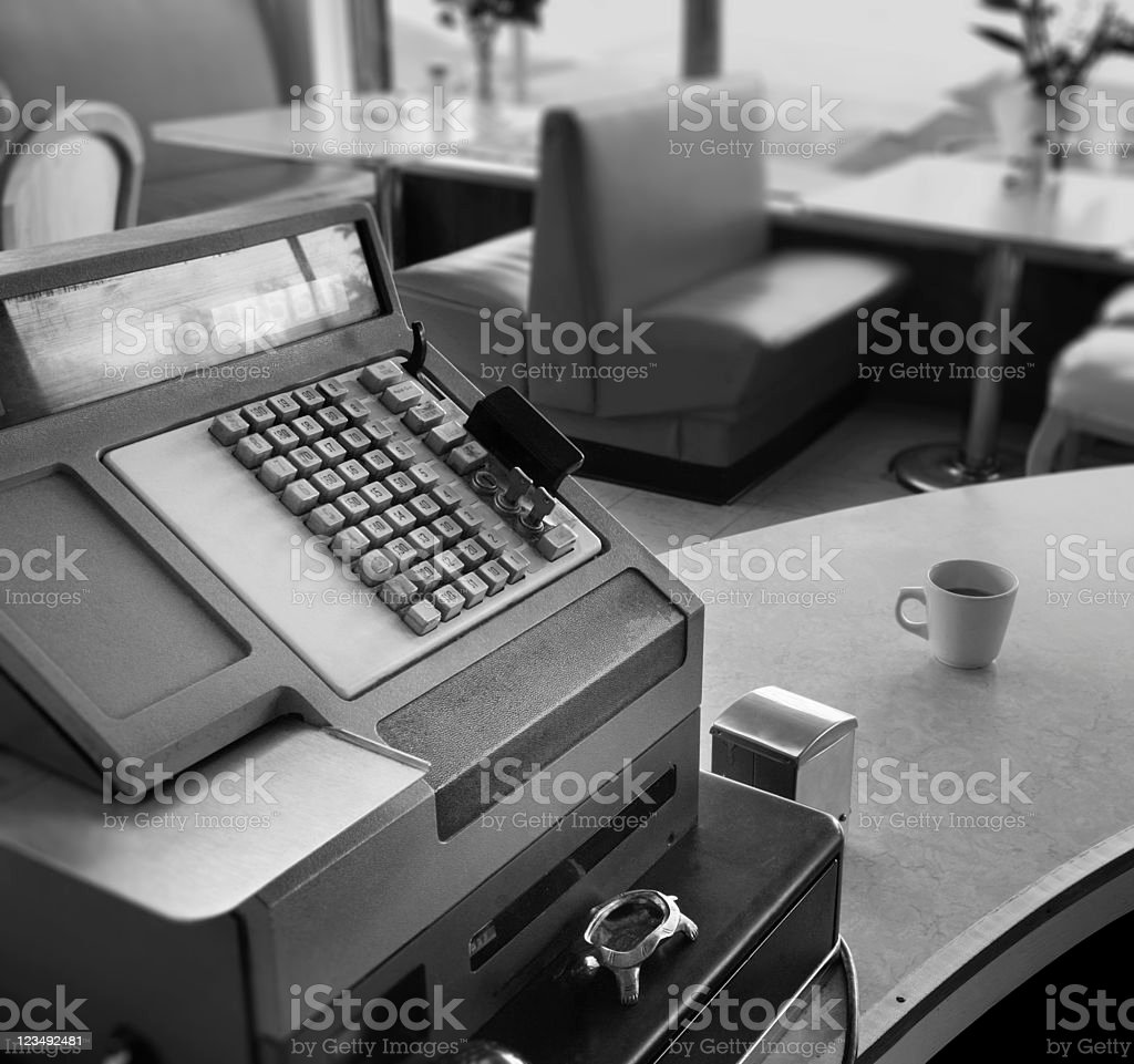 old cash register royalty-free stock photo