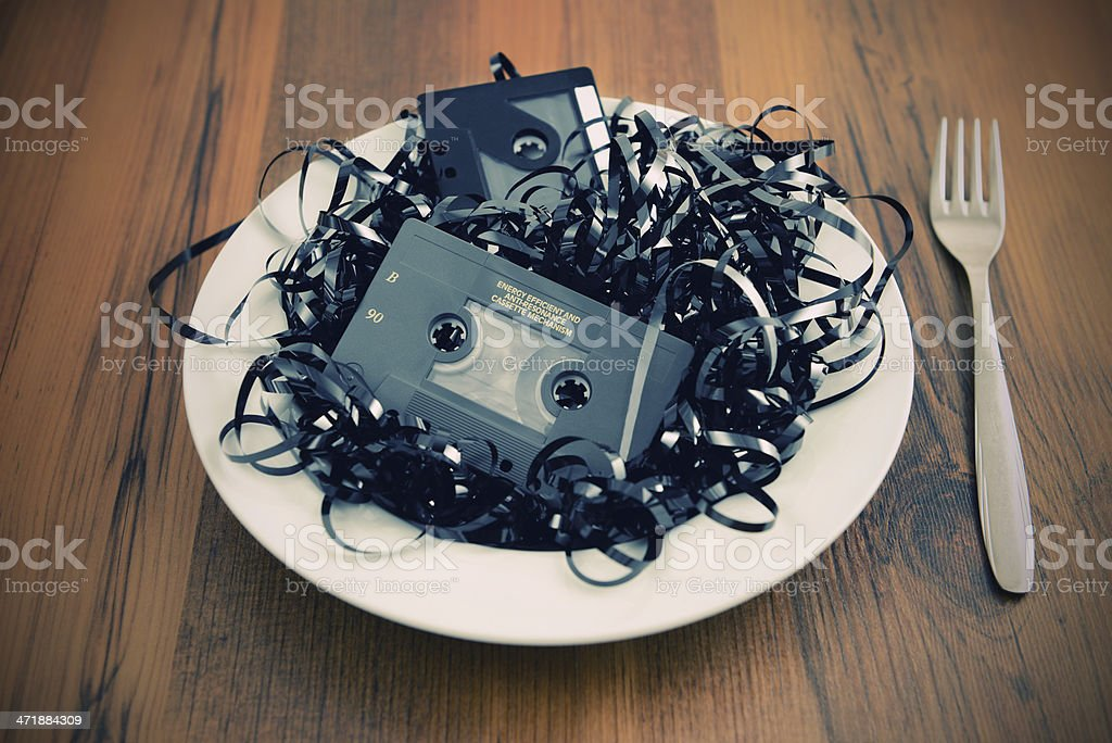old cassette salad royalty-free stock photo