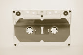 Old Cassette tape in vintage color style