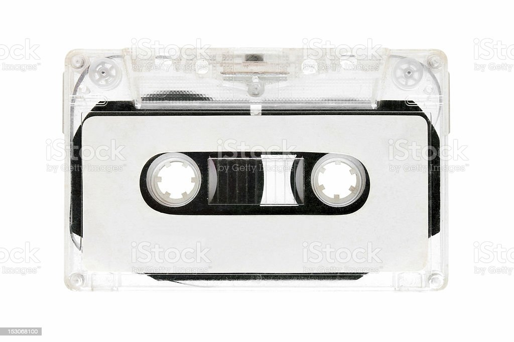 Old Cassette Tape isolated on white background royalty-free stock photo