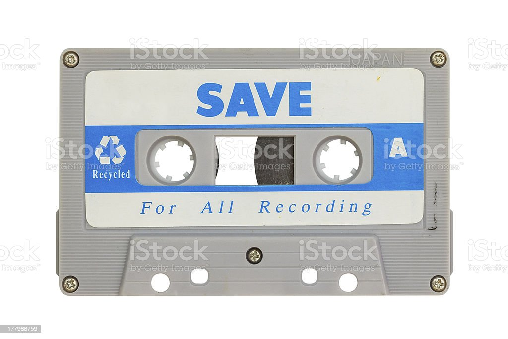 Old cassette tape stock photo