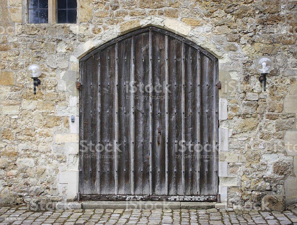 Old Castle Door stock photo
