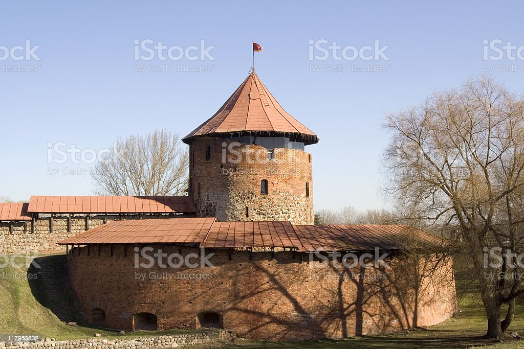 Old castle in Kaunas royalty-free stock photo