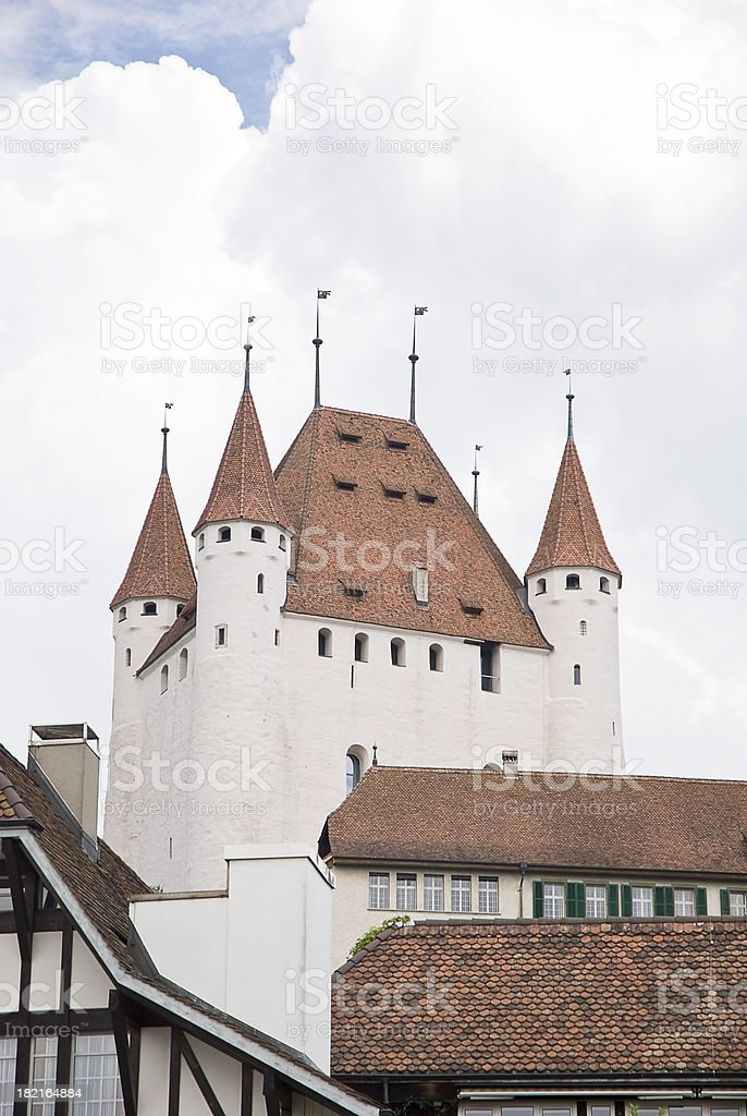 Old castle in Switzerland stock photo