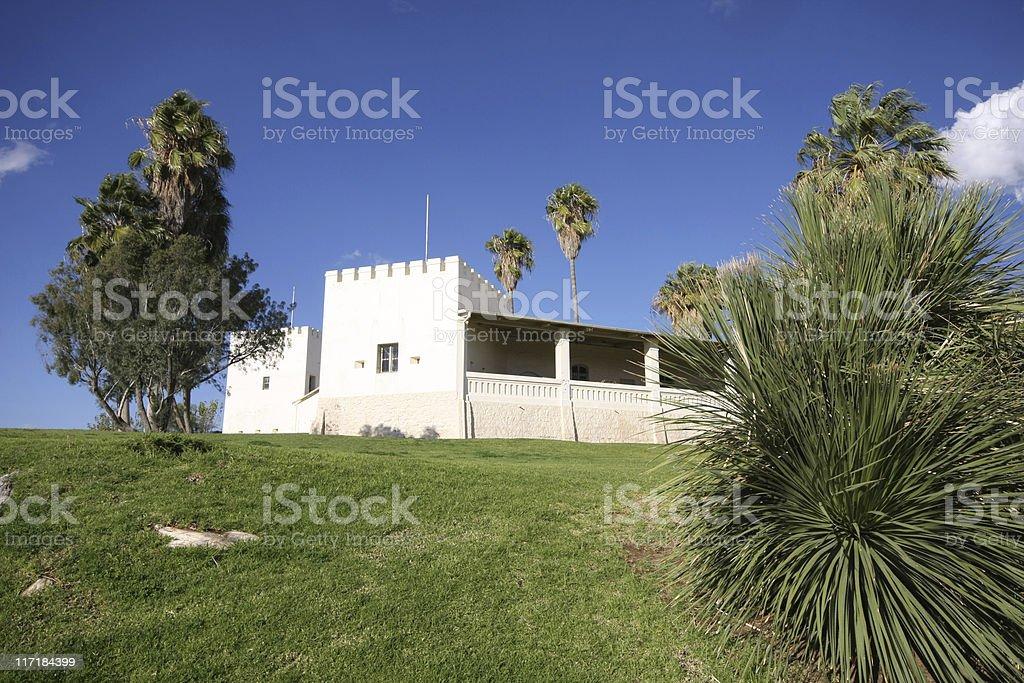 old castle in windhoek stock photo