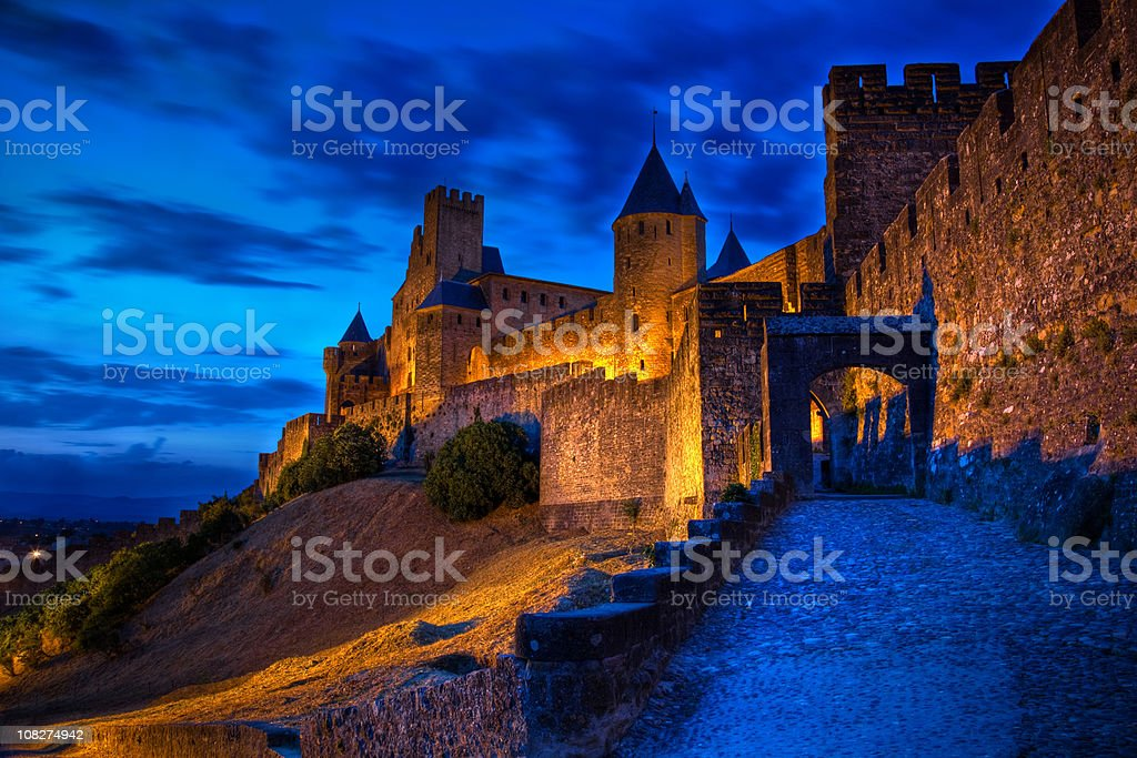 Old castle of Carcassonne royalty-free stock photo