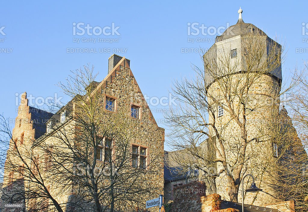Old Castle of Giessen, Germany stock photo