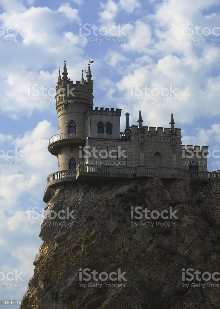 Old castle on cliff royalty-free stock photo