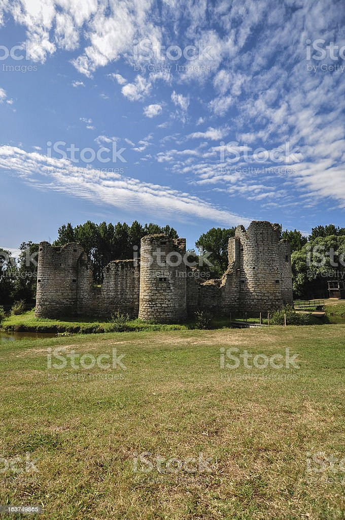 old castle ruin on a summer day royalty-free stock photo