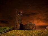 Old castle ruins in Ireland