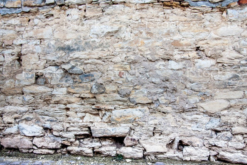 old castle stone wall background and texture stock photo