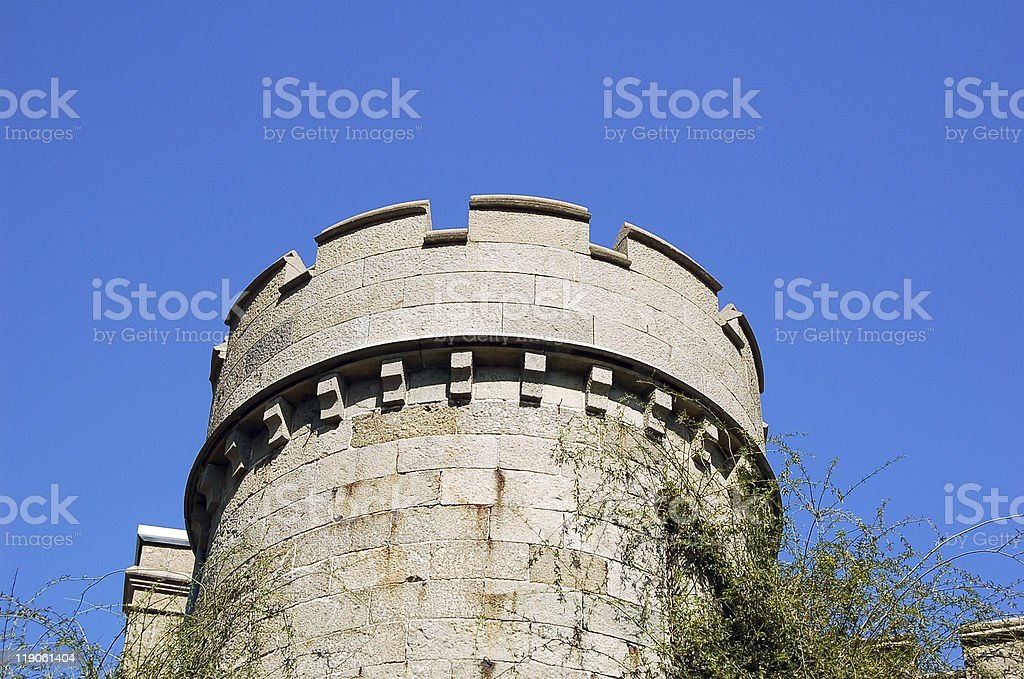 Old castle tower royalty-free stock photo
