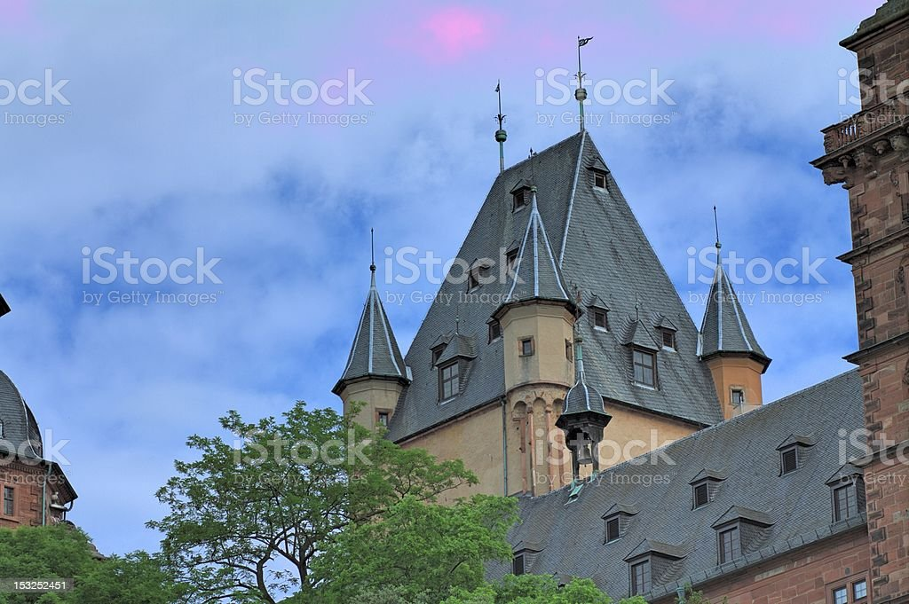 Old castle Tower stock photo