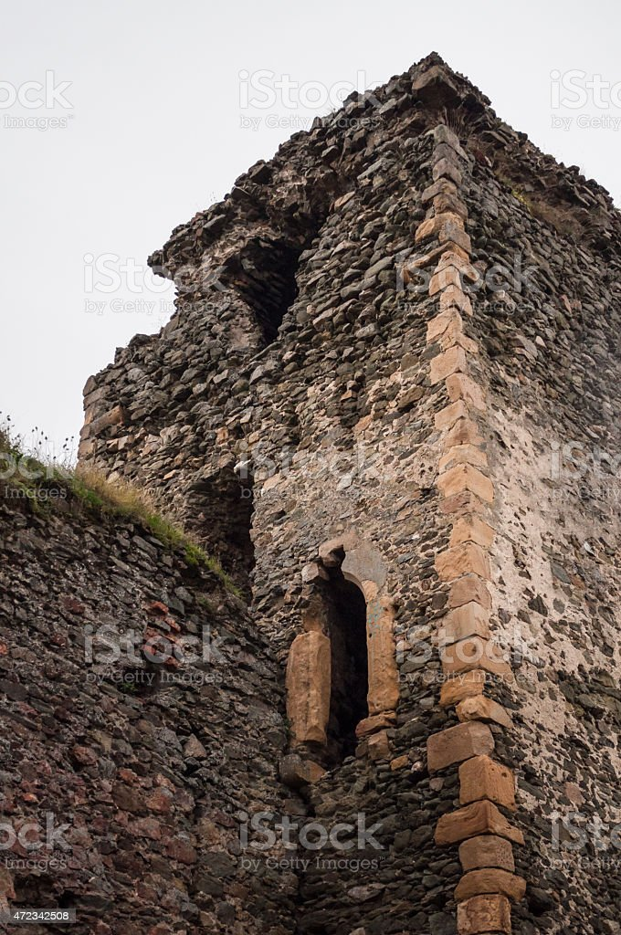 old castle tower ruins royalty-free stock photo