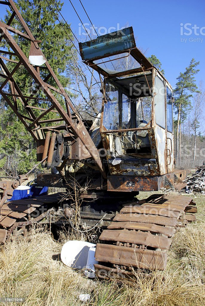 .Old caterpillar earth mover royalty-free stock photo