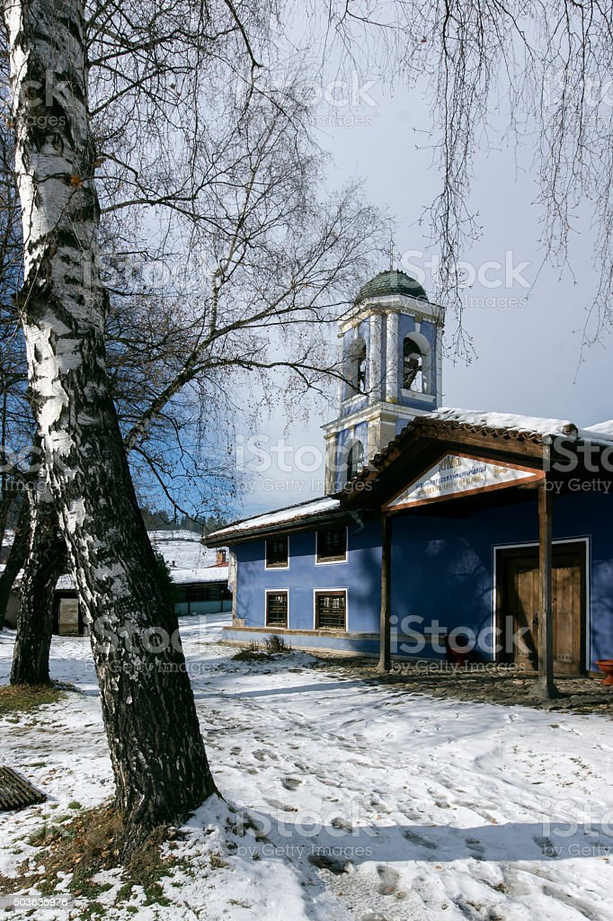 Old Cathedral church Assumption of St. Mary in Koprivshtitsa stock photo