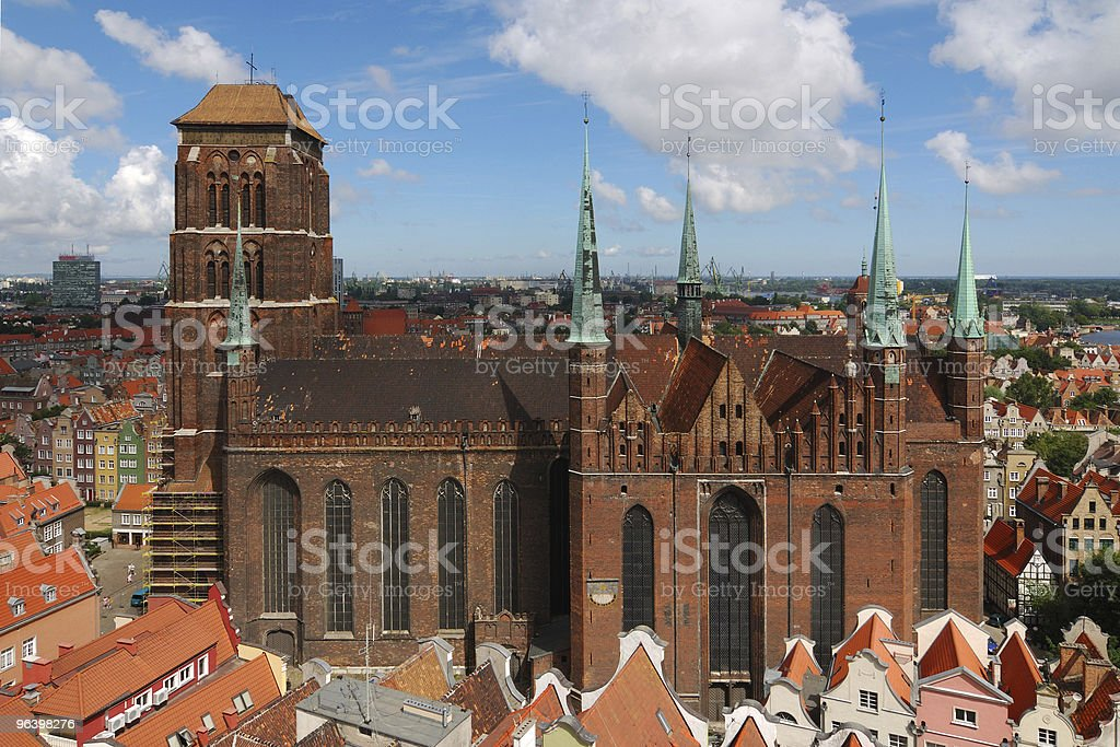 Old Cathedral in Gdansk royalty-free stock photo