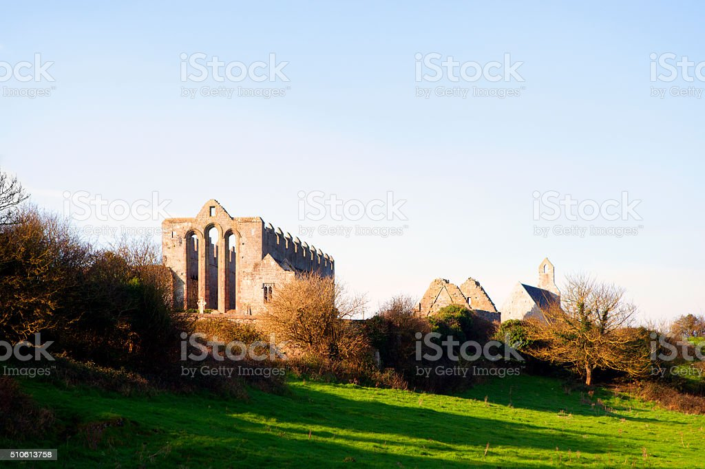 Old cathedral in Ireland stock photo