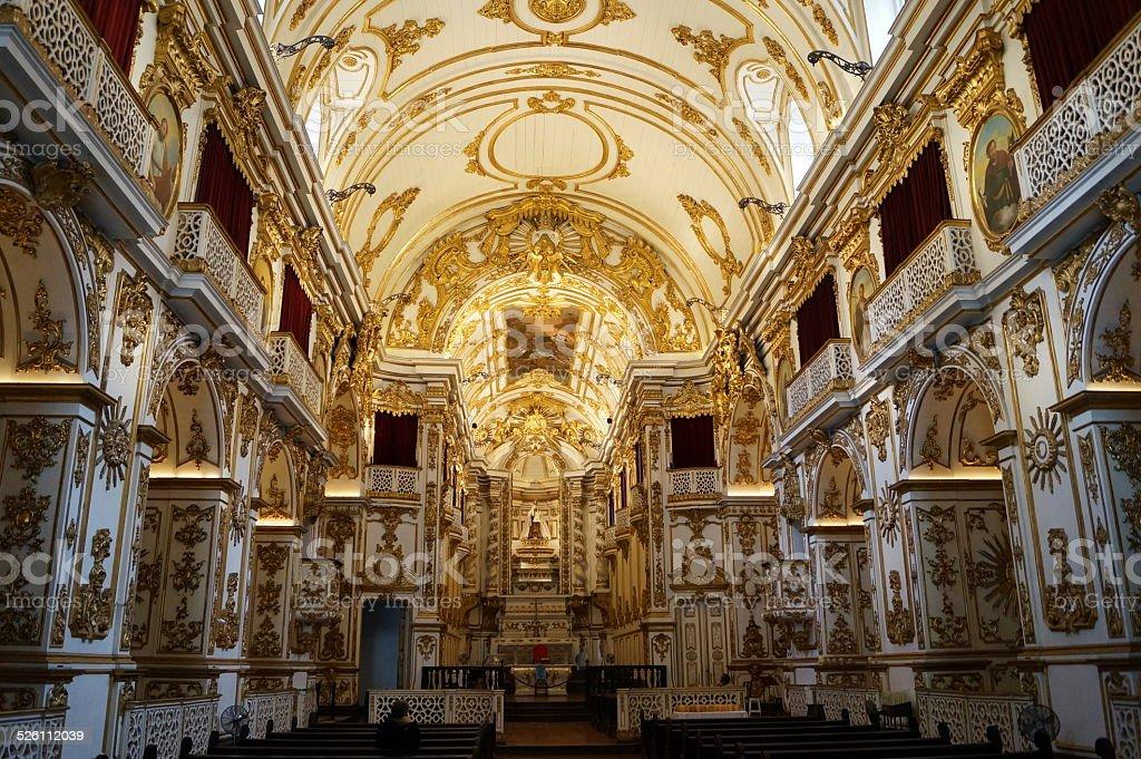 Antigua catedral, Rio de Janeiro, Brasil foto de stock libre de derechos