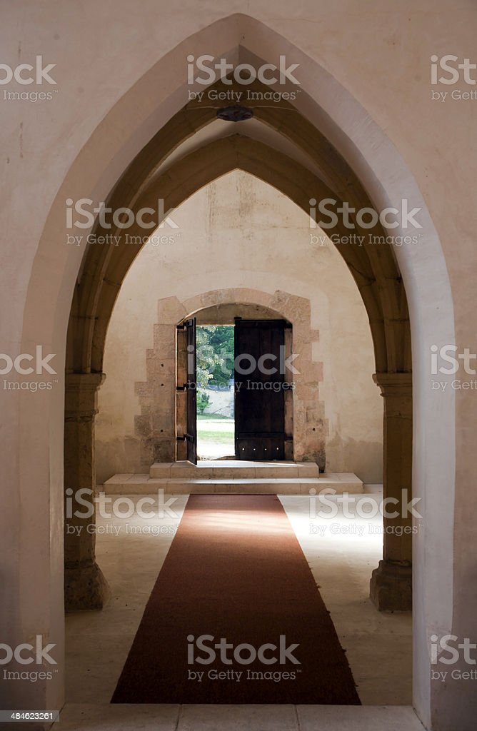 old catholic church in Pleterje royalty-free stock photo
