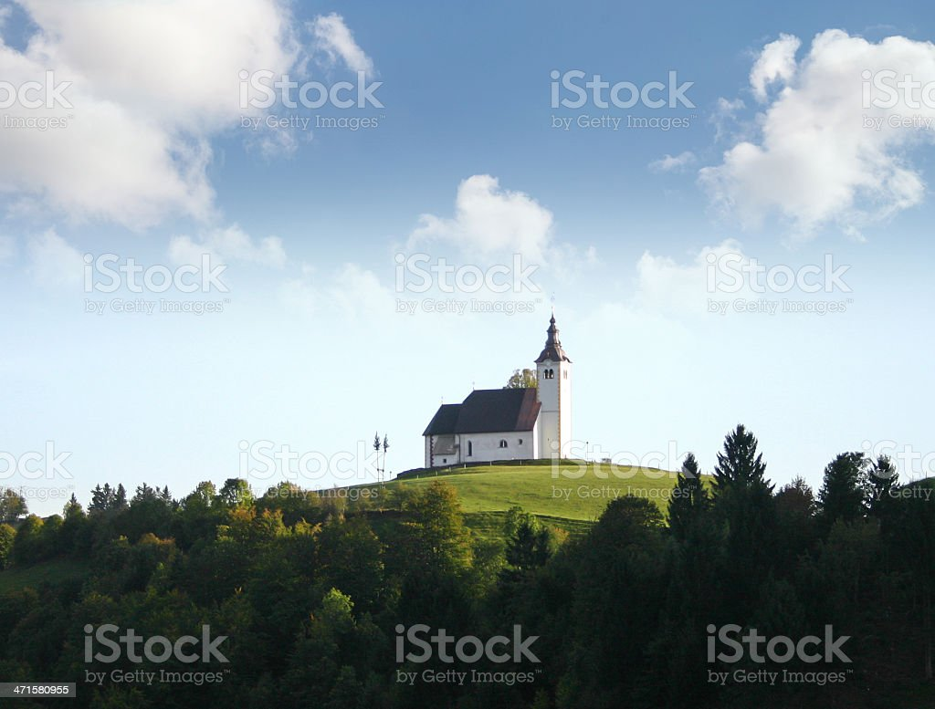 Old Catholic curch stock photo