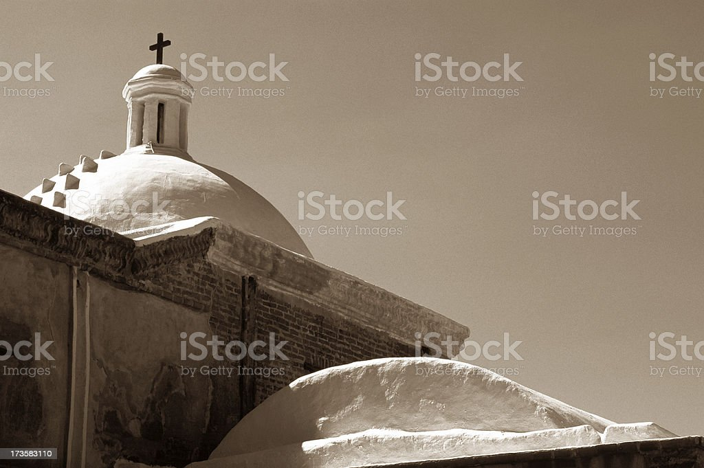 Old Catholic Mission stock photo
