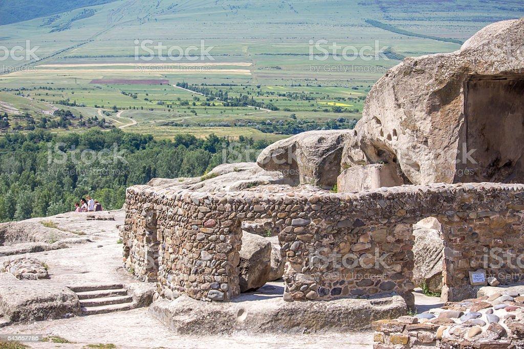 Old cave city Uplistsikhe in Caucasus region, Georgia stock photo
