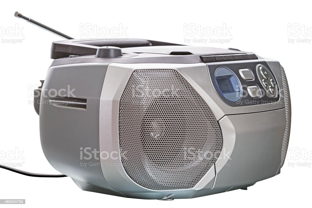 Old CD radio cassette player stock photo