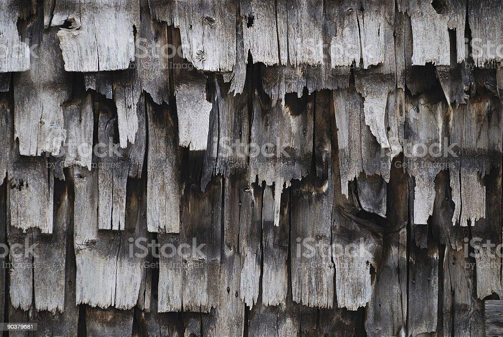 Old Cedar Siding royalty-free stock photo