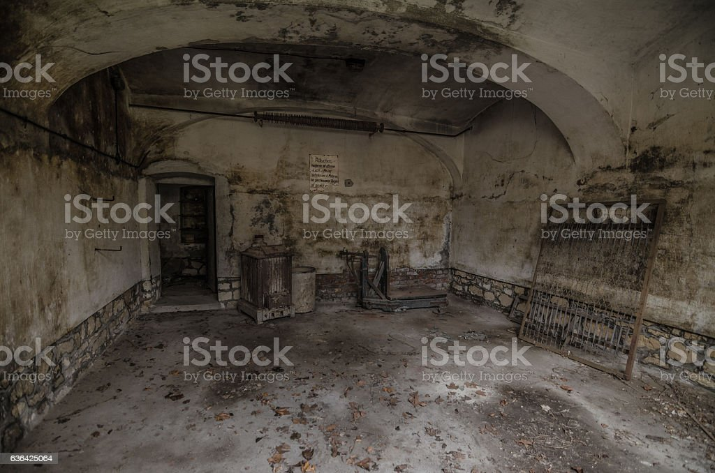 old cellar vaults stock photo