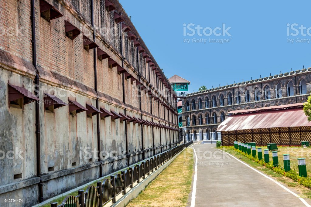 old cellular prison on the island of Andamans in India stock photo