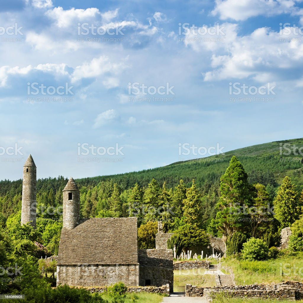old celtic ruins stock photo