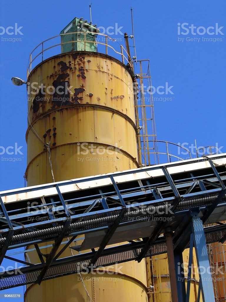 Old Cement Factory royalty-free stock photo