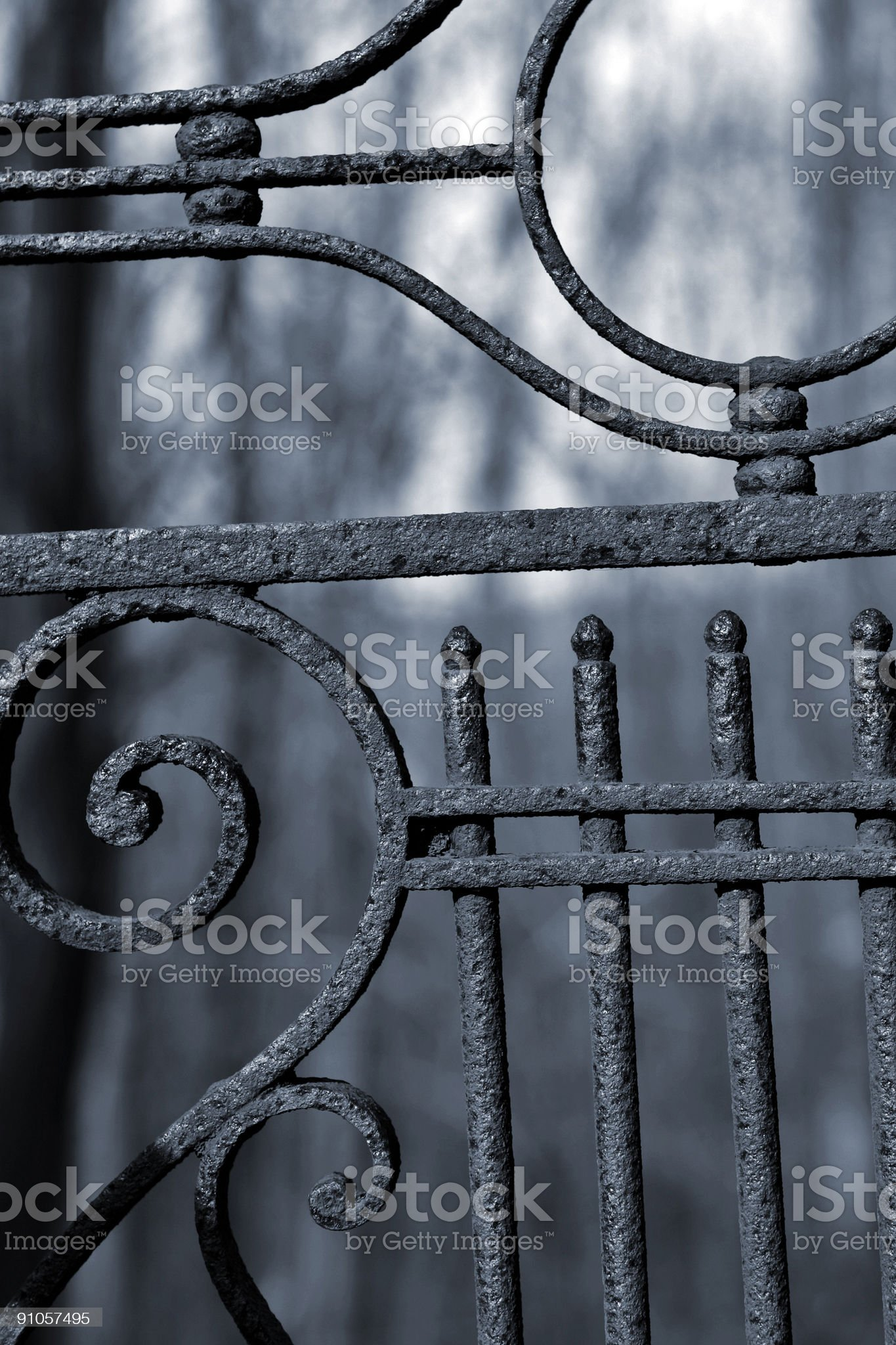 old cemetary gate royalty-free stock photo