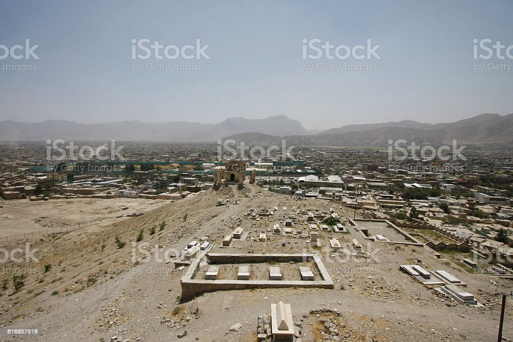 Old cemetery in Kabul, Afghanistan stock photo