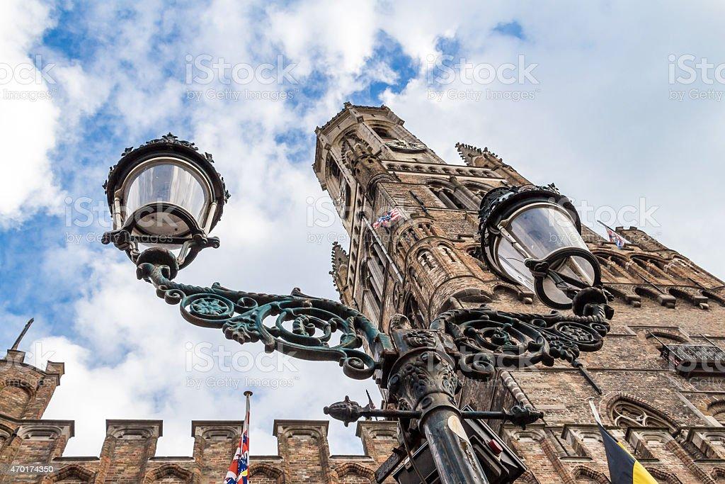 Old center of Brugge, Flanders, Belgium stock photo
