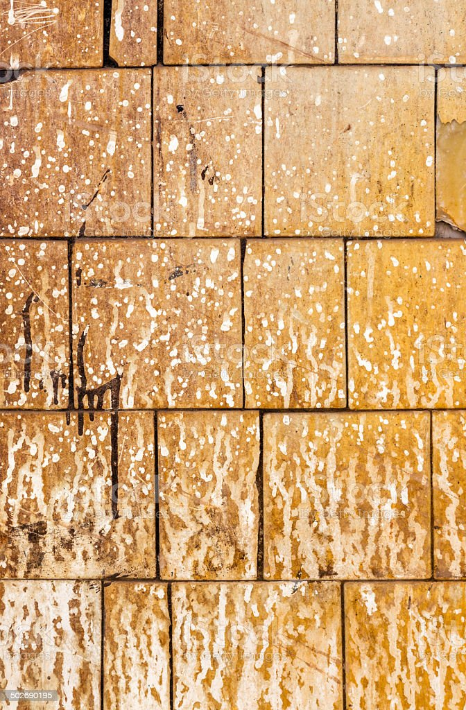 Old ceramic tile royalty-free stock photo