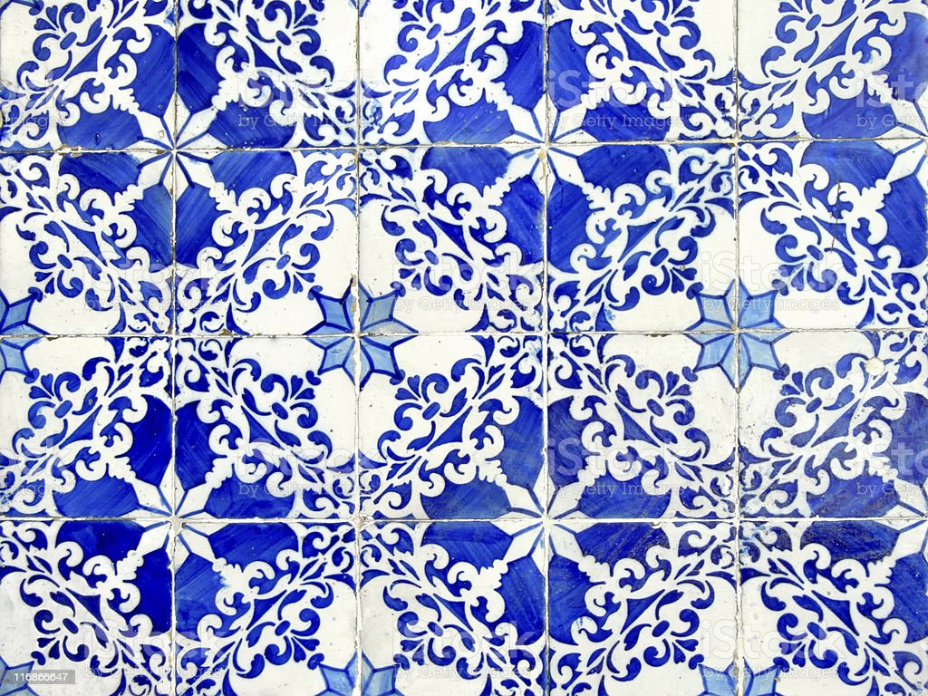 Old ceramic tiles royalty-free stock photo
