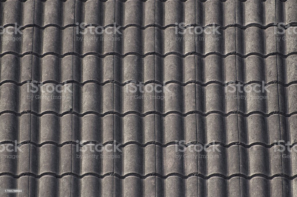 Old ceramic  tiles roof texture royalty-free stock photo