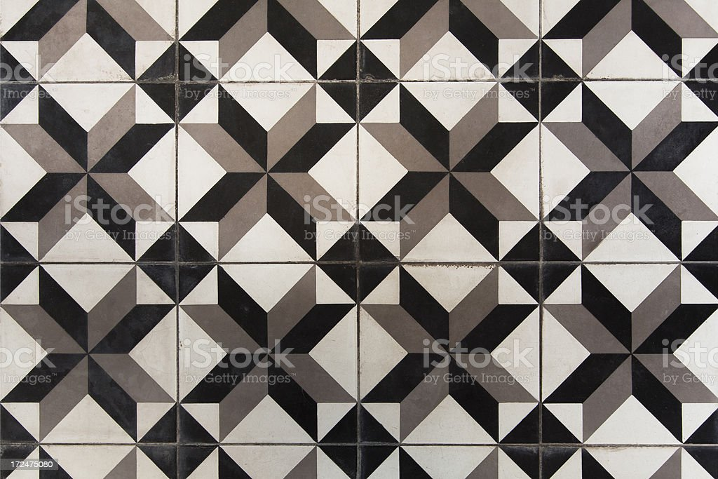 Old Ceramics Floor royalty-free stock photo