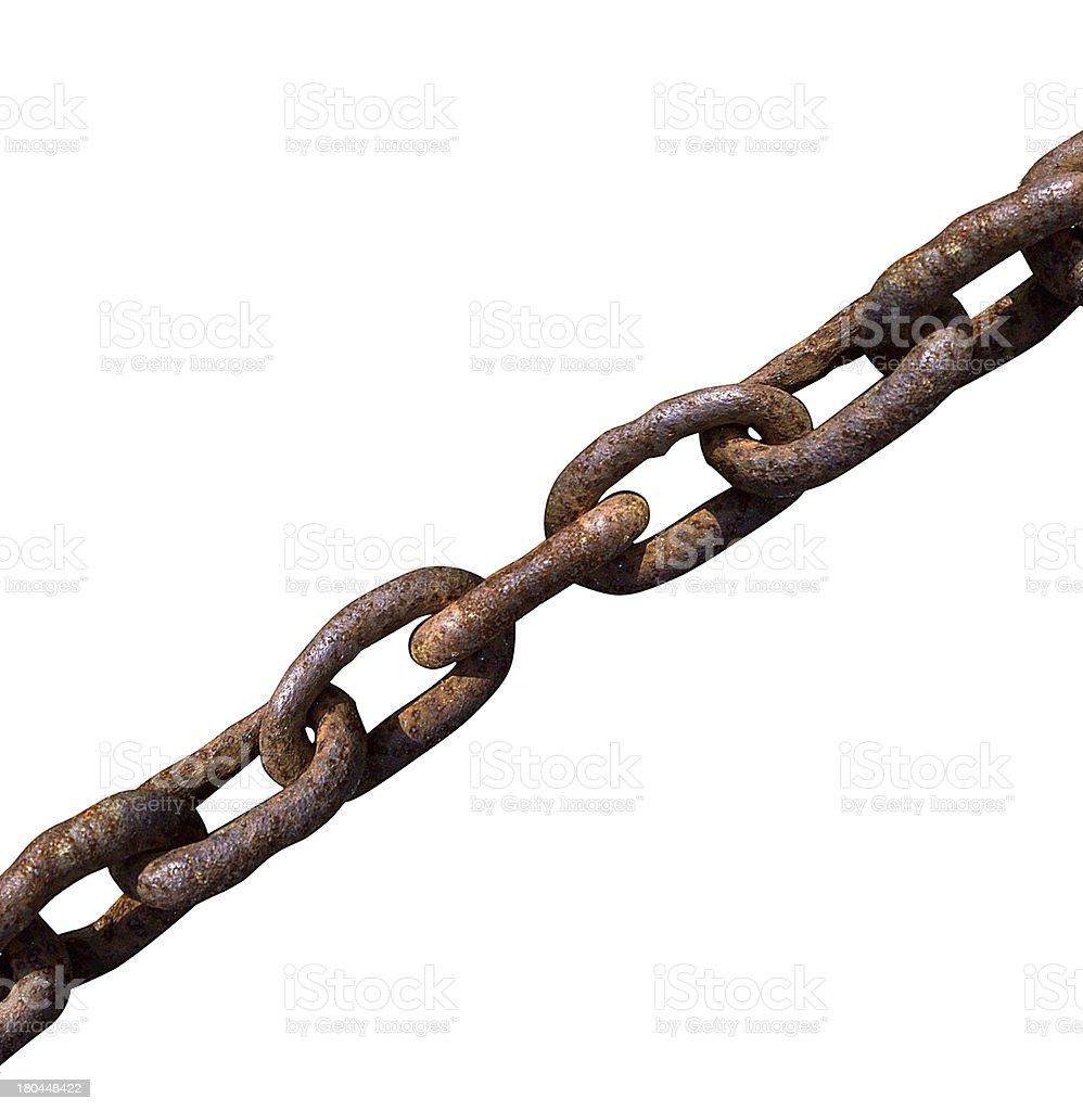 Old chain macro royalty-free stock photo