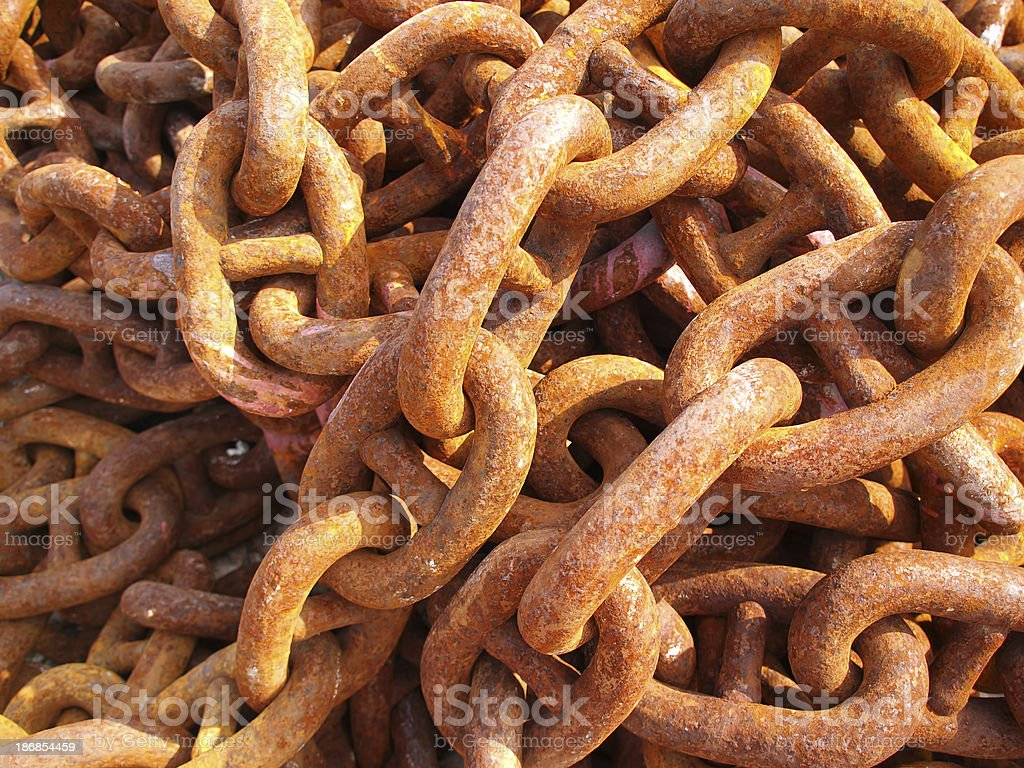 Old chain royalty-free stock photo