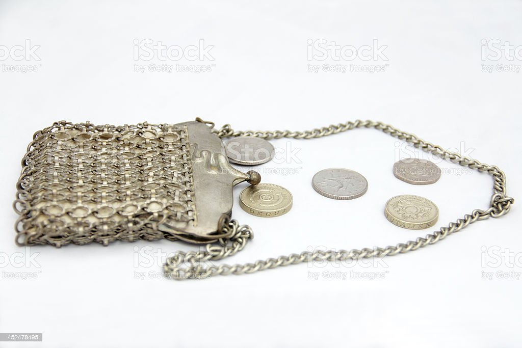 old chain purse stock photo