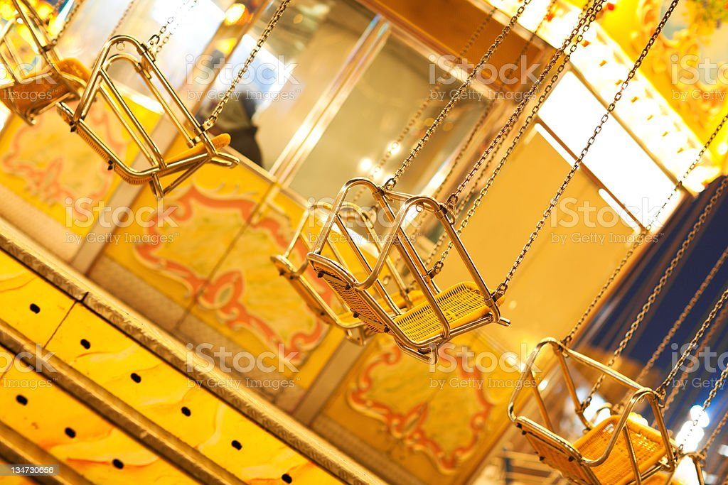 Old Chain Swing Ride stock photo