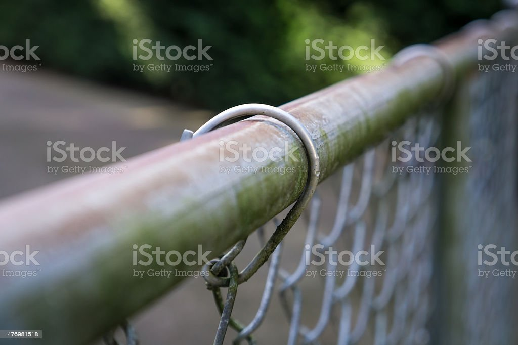 Old chainlink fence stock photo