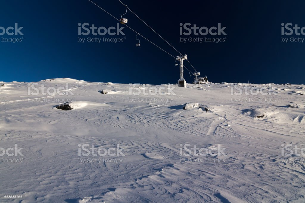 old chair lift stock photo