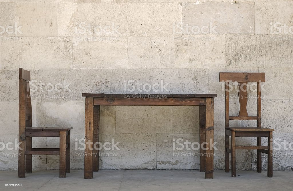 Old Chairs and Table / Istanbul stock photo