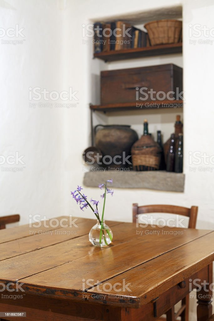 Old chairs and table royalty-free stock photo