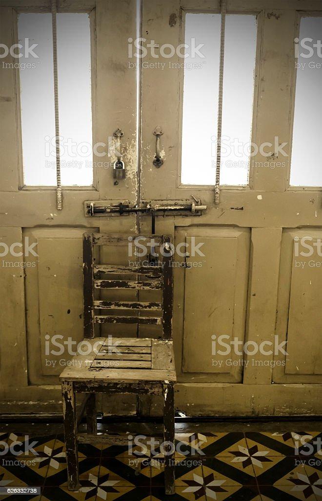 old chair-tagbilaran stock photo